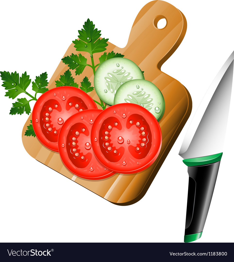 Serving board with ingredients on vector | Price: 1 Credit (USD $1)