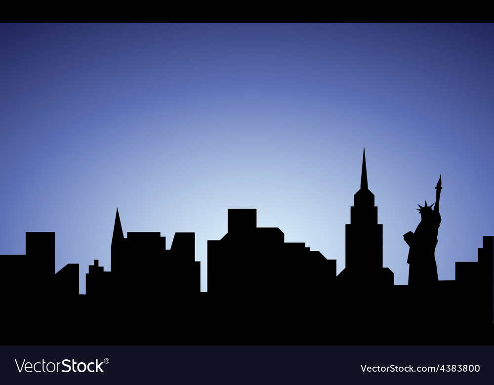 Silhouette of new-york city usa vector | Price: 1 Credit (USD $1)