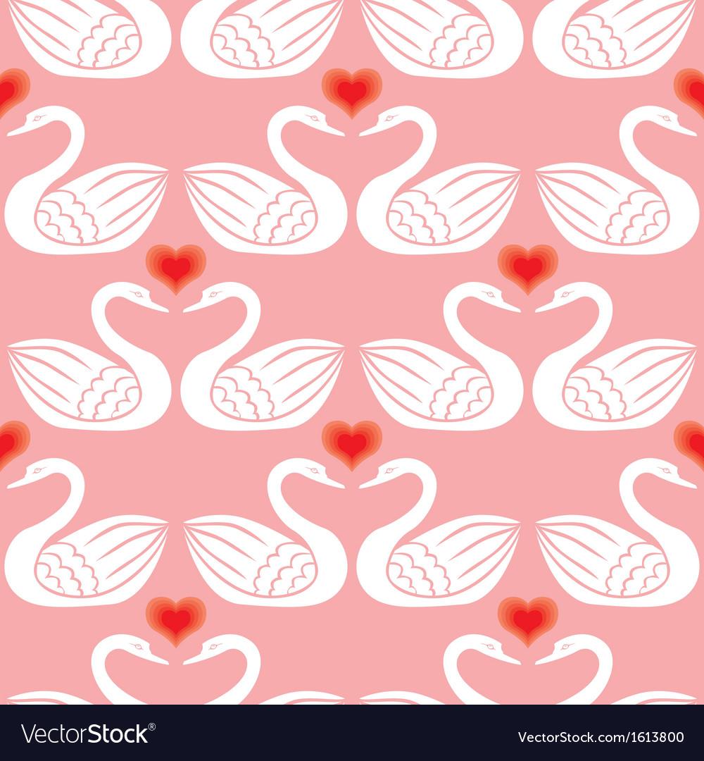 Swan pattern vector | Price: 1 Credit (USD $1)