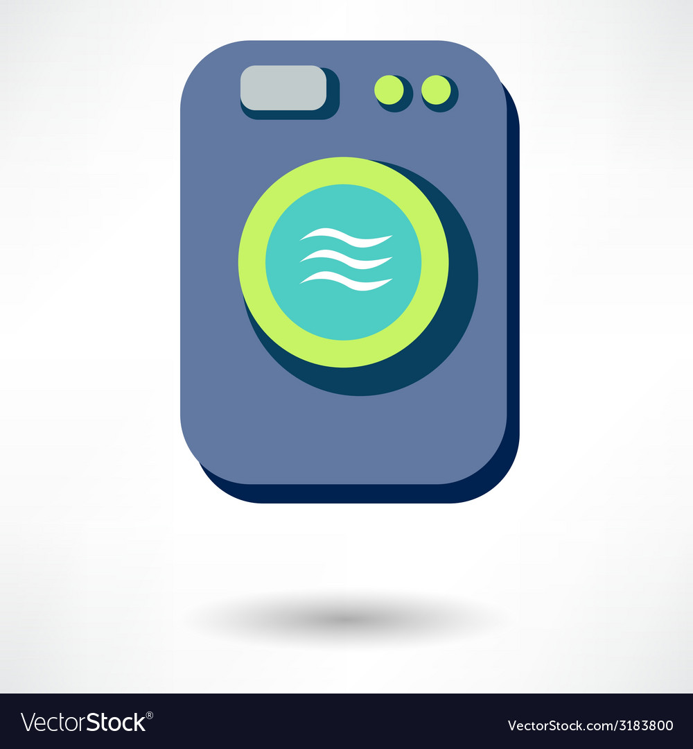 Washing machine icon isolated vector | Price: 1 Credit (USD $1)
