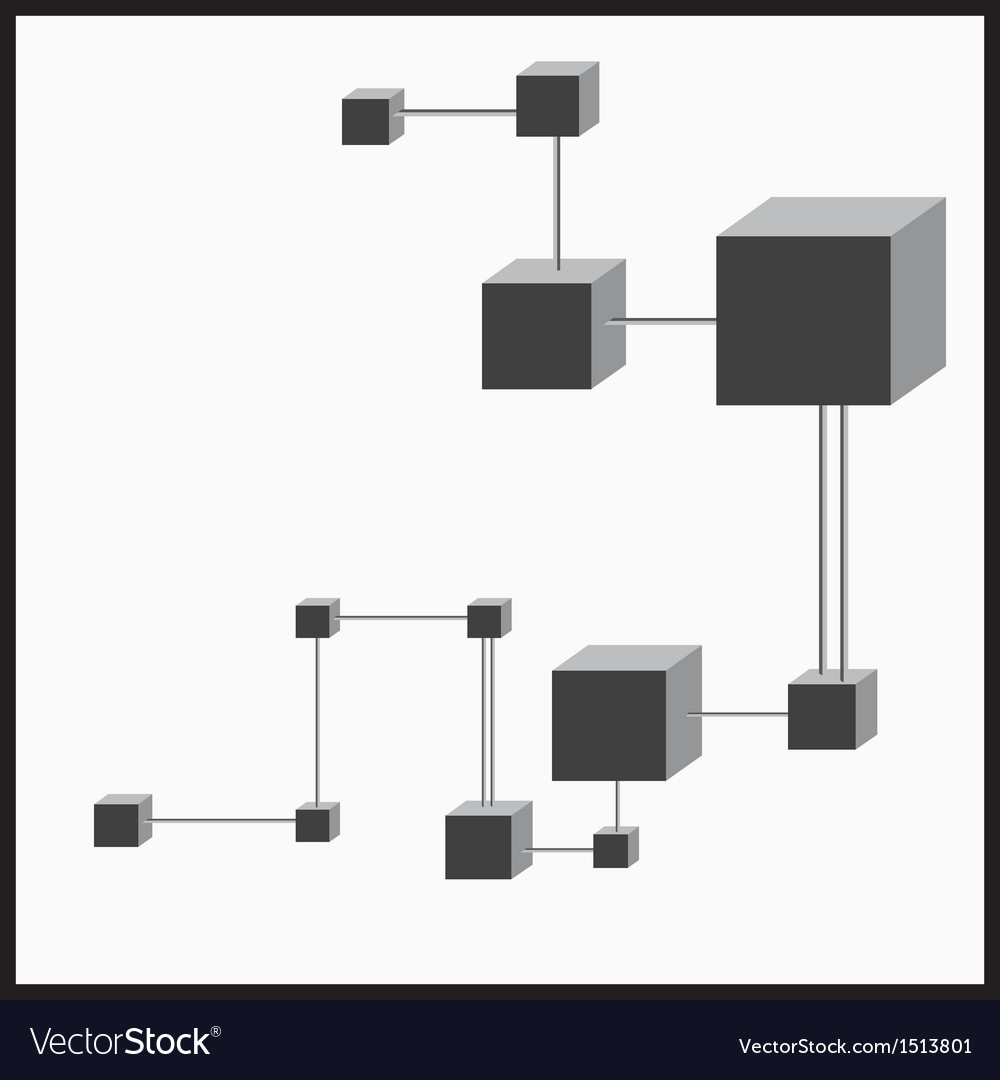 3d cubes connection vector | Price: 1 Credit (USD $1)