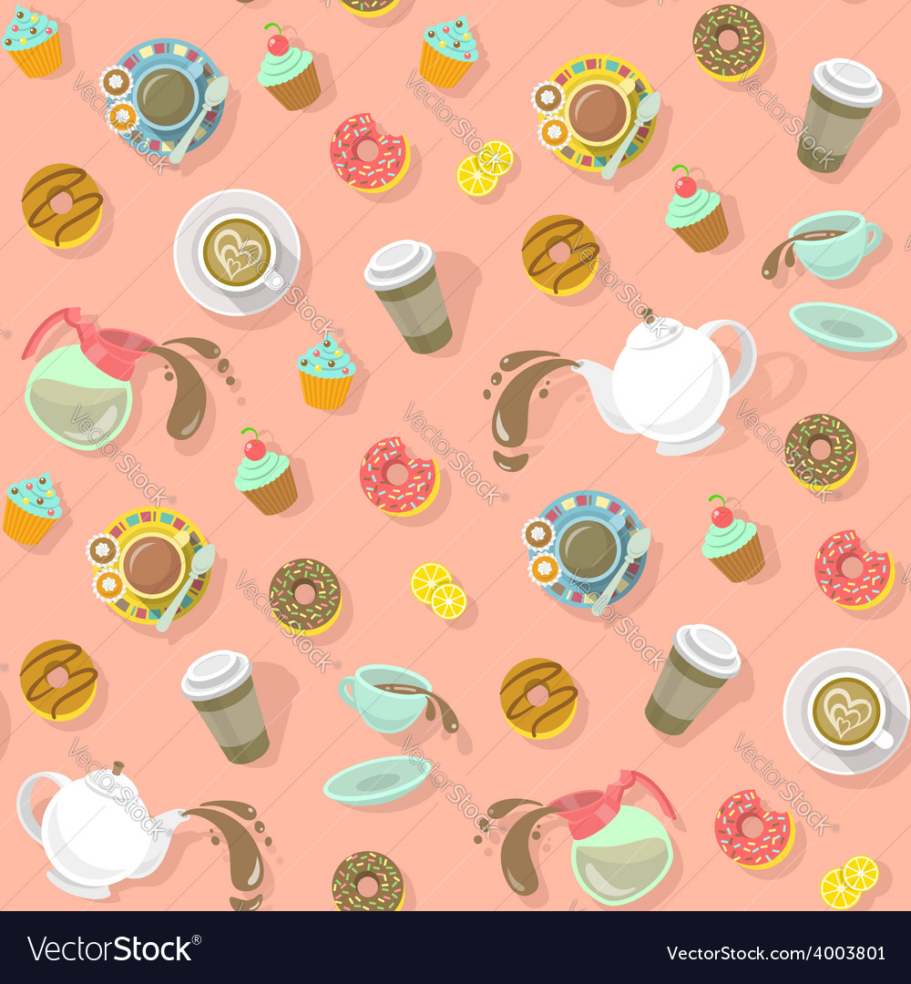 City cafe pattern vector | Price: 1 Credit (USD $1)