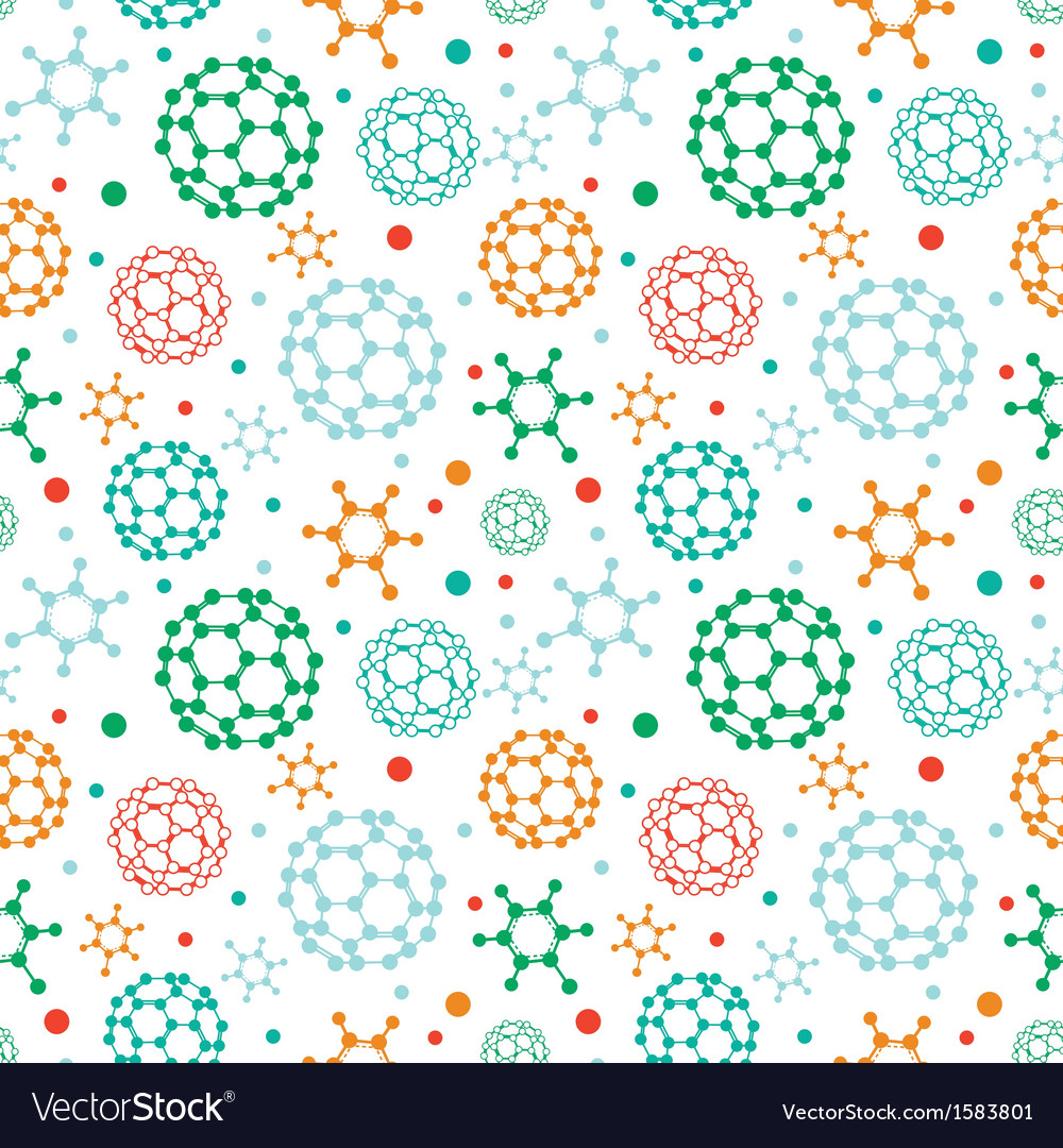 Colorful molecules seamless pattern background vector | Price: 1 Credit (USD $1)