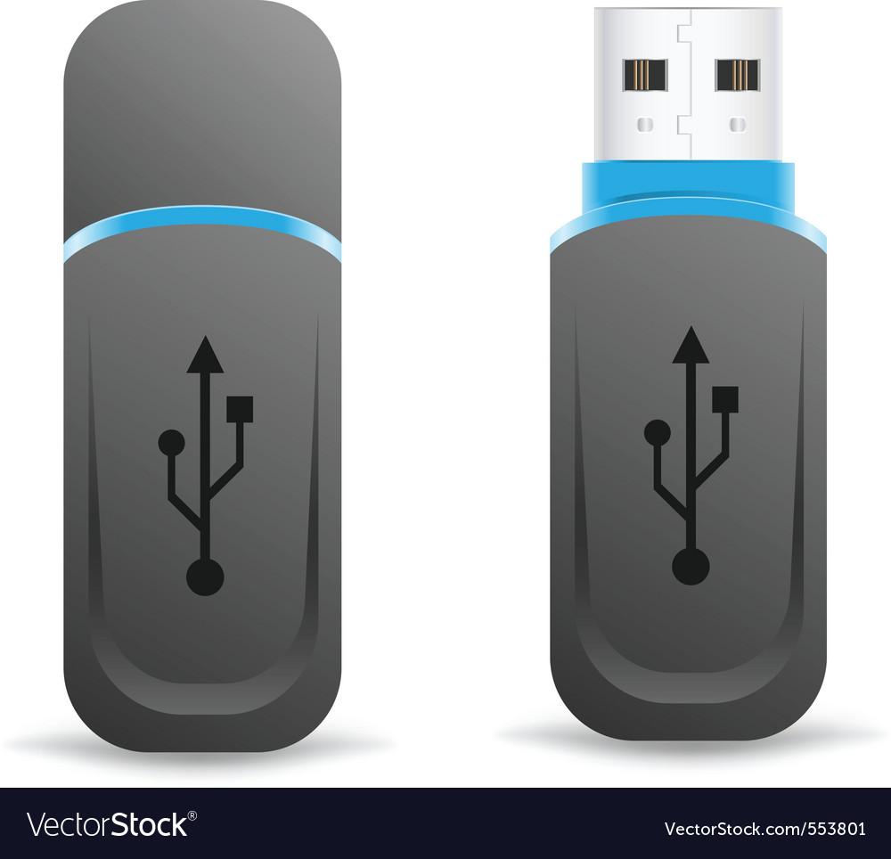 Flash drive vector | Price: 1 Credit (USD $1)