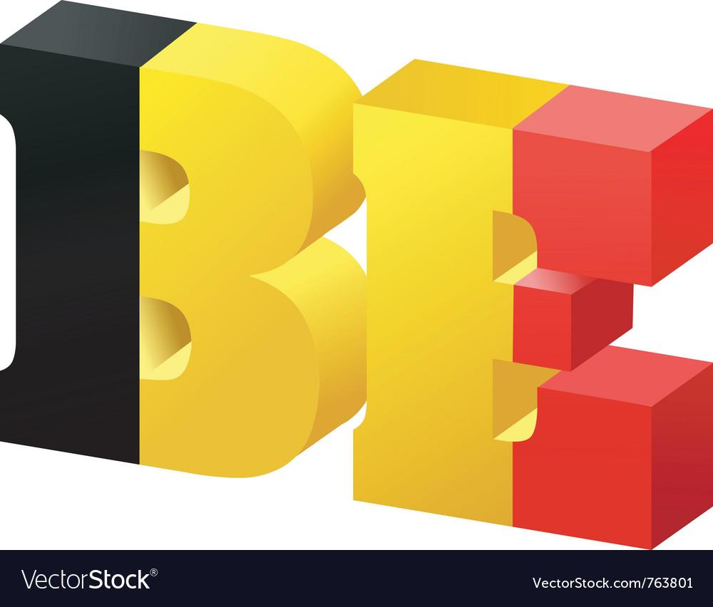 Internet top-level domain of belgium vector | Price: 1 Credit (USD $1)