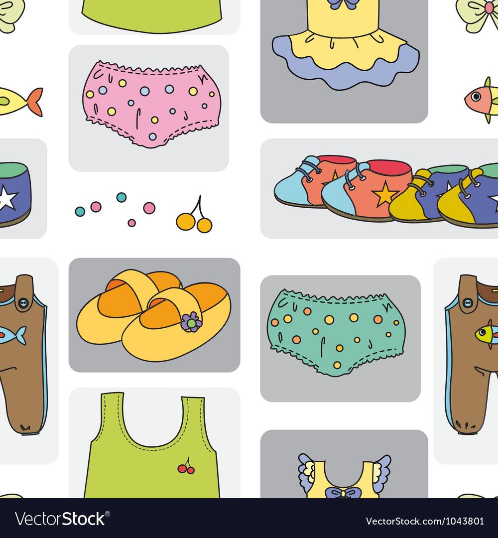 Kidswear pattern background vector | Price: 1 Credit (USD $1)