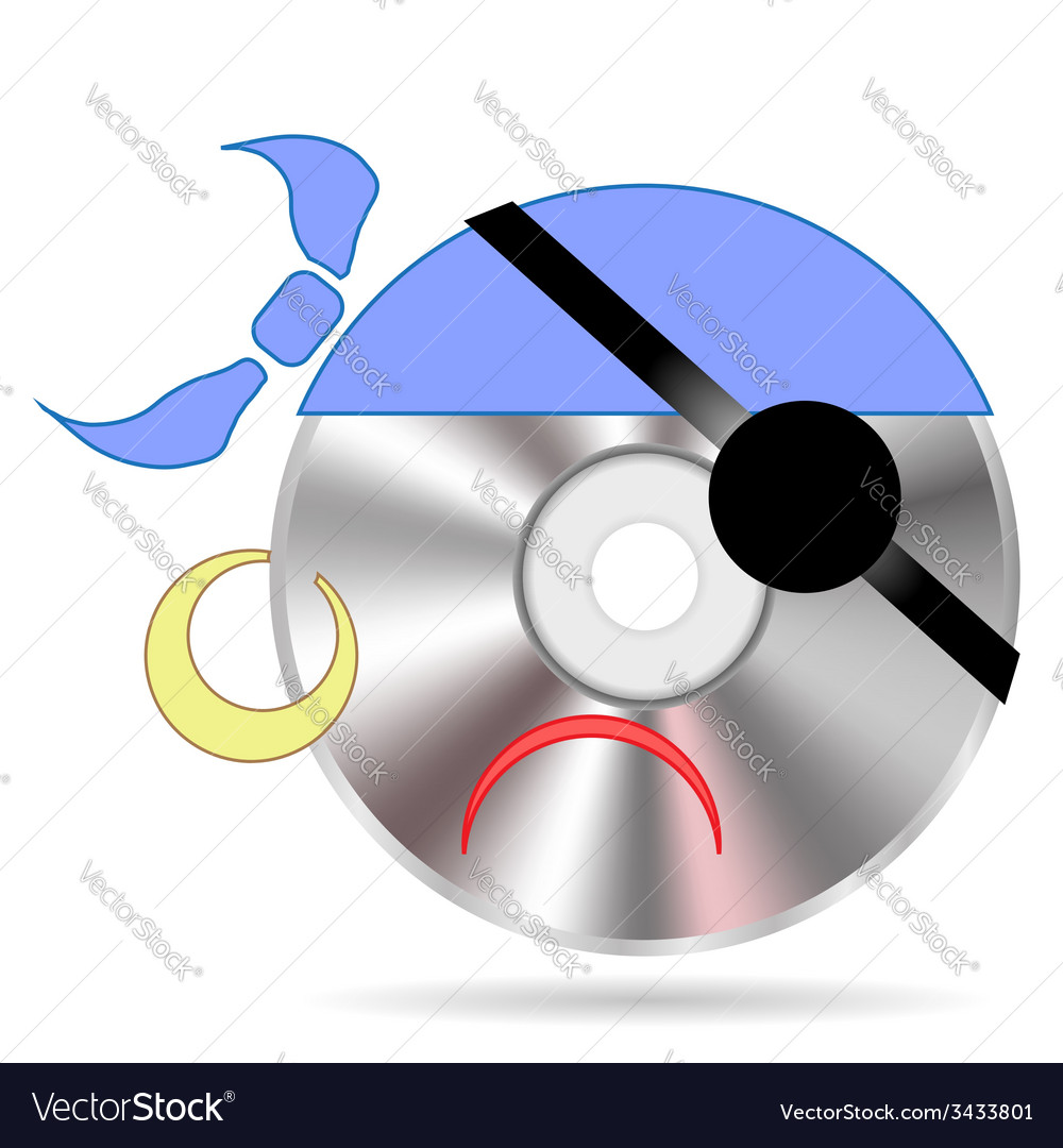 Pirate disc vector | Price: 1 Credit (USD $1)