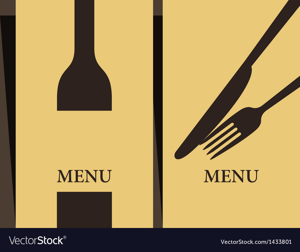 Wine list and menu design vector | Price: 1 Credit (USD $1)
