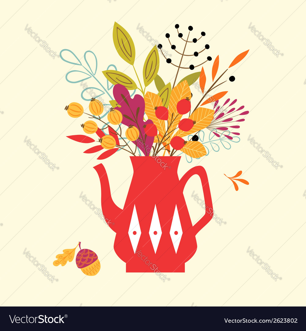 Autumn bouquet vector | Price: 1 Credit (USD $1)