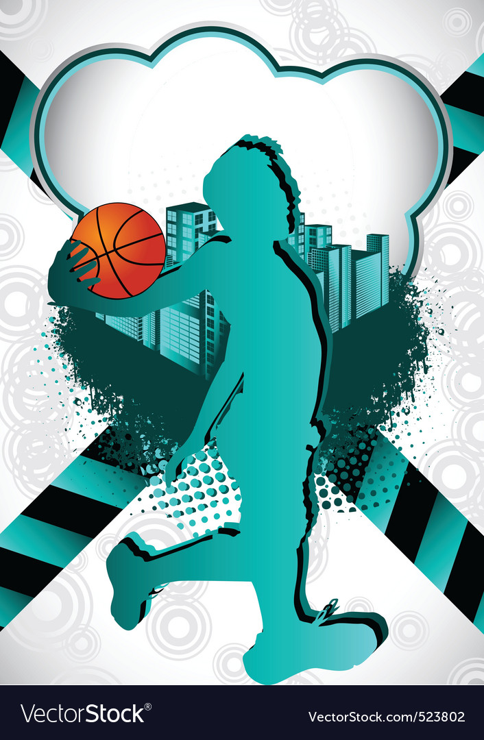 Basketball summer background vector | Price: 1 Credit (USD $1)
