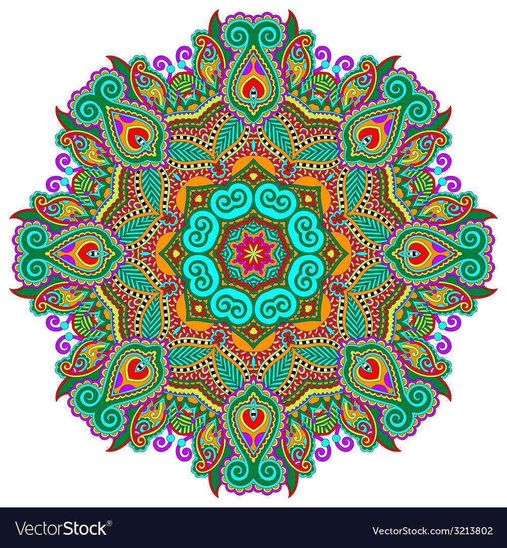 Beautiful vintage circular pattern of arabesques vector   Price: 1 Credit (USD $1)