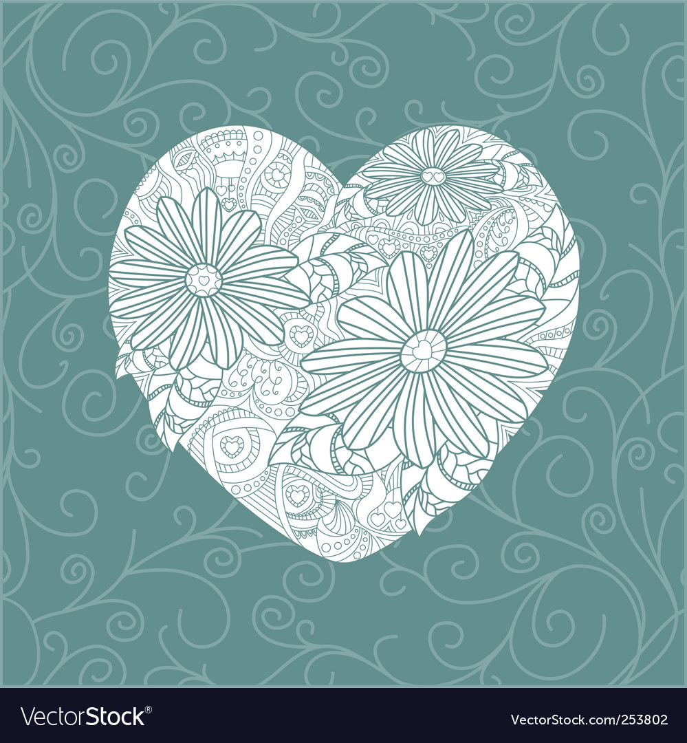 Cute valentine's day card vector | Price: 1 Credit (USD $1)