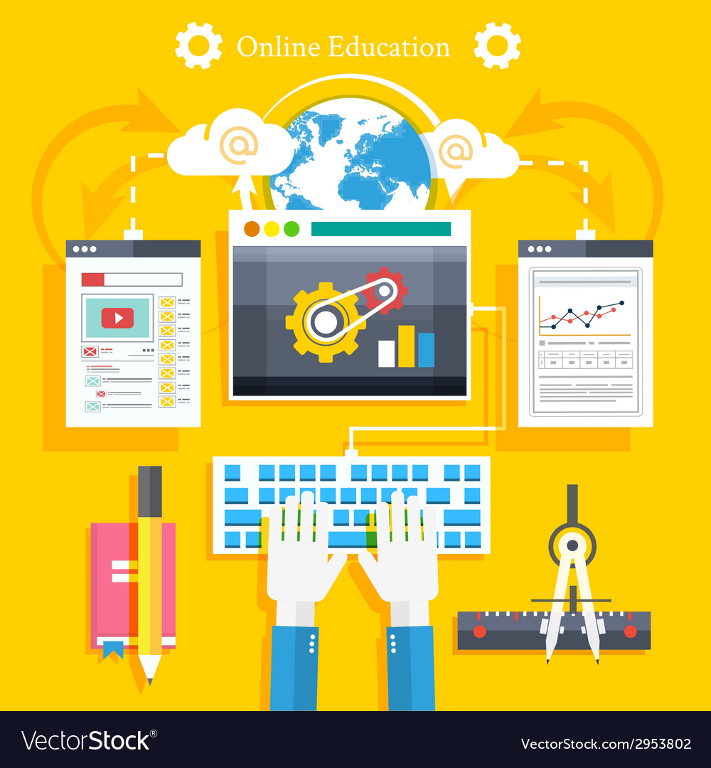 Education online education professional education vector | Price: 1 Credit (USD $1)