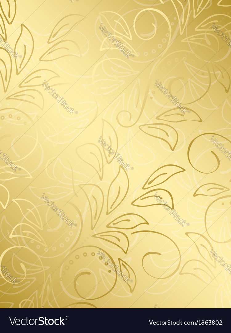 Gold floral background with gradient vector | Price: 1 Credit (USD $1)