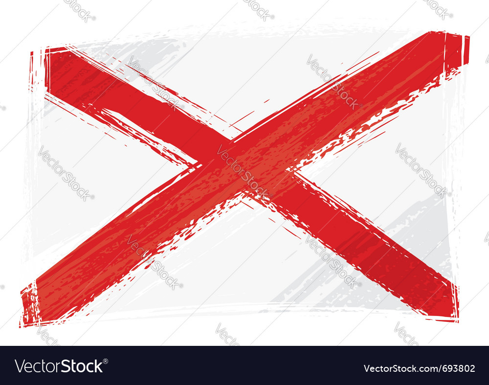 Grunge alabama flag vector | Price: 1 Credit (USD $1)