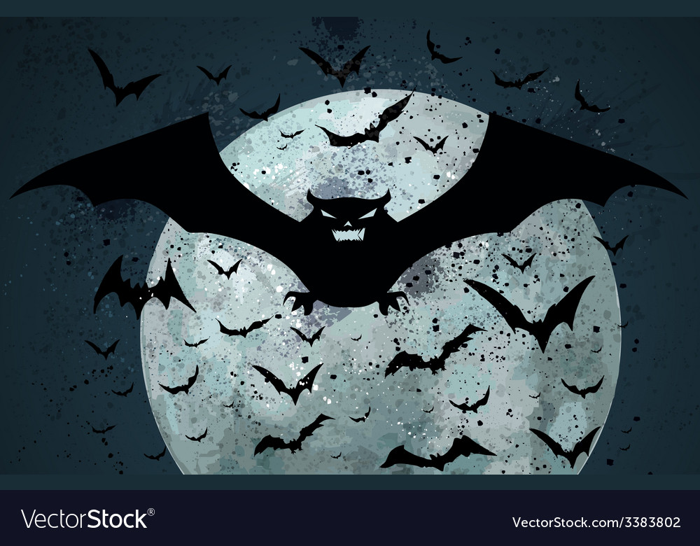 Grunge halloween bat background vector | Price: 1 Credit (USD $1)