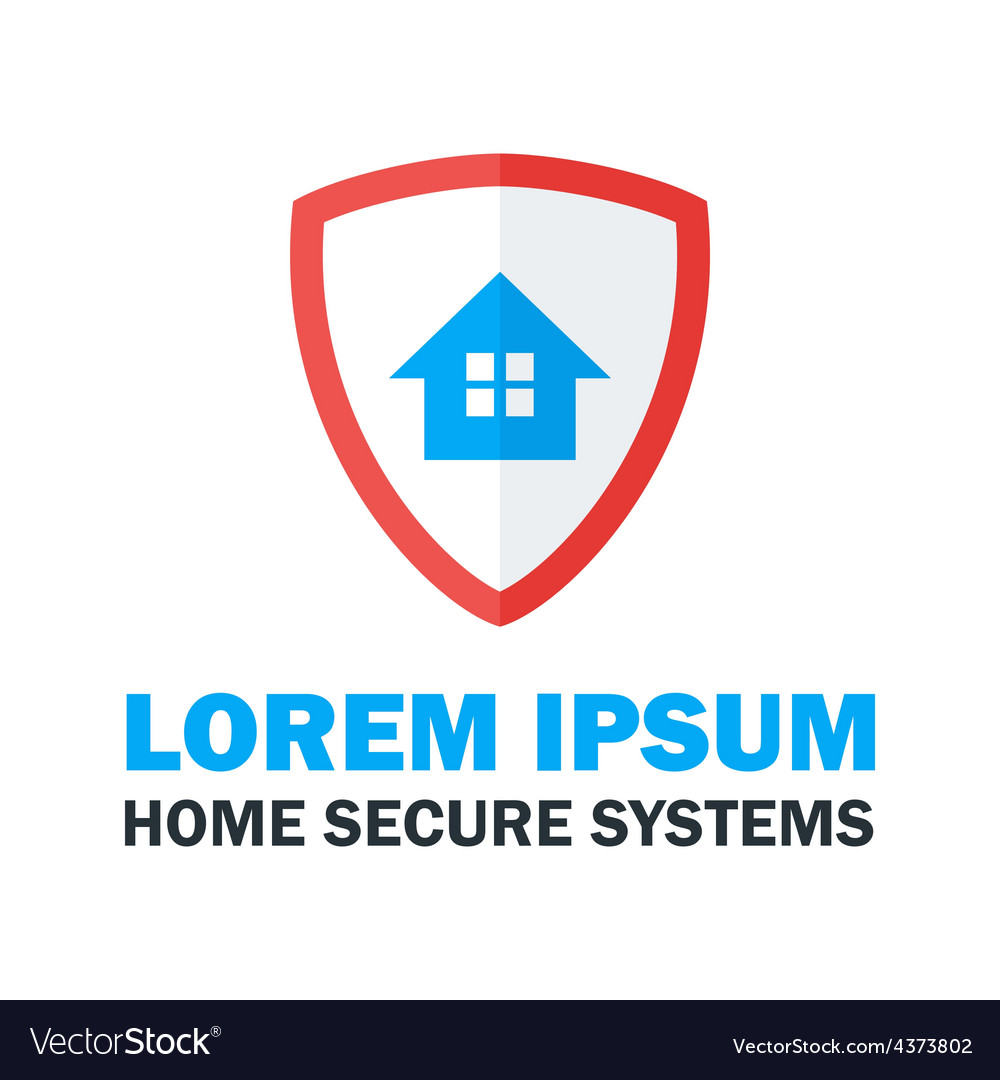 Home secure system logo design vector | Price: 1 Credit (USD $1)