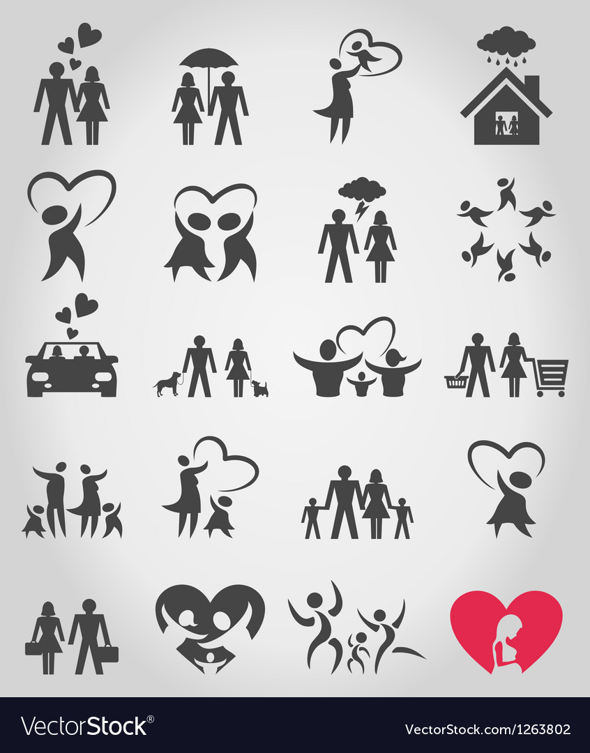 Icons a family vector | Price: 1 Credit (USD $1)