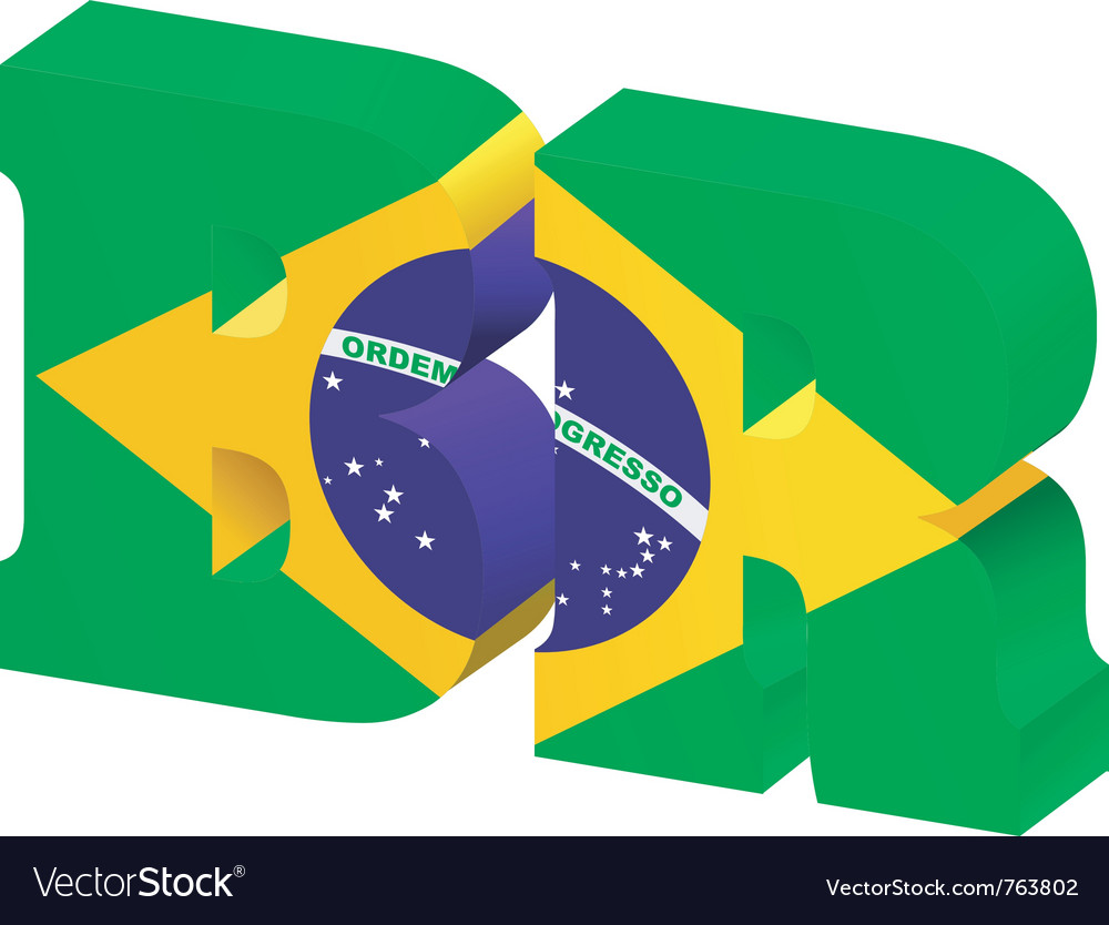 Internet toplevel domain of brazil vector
