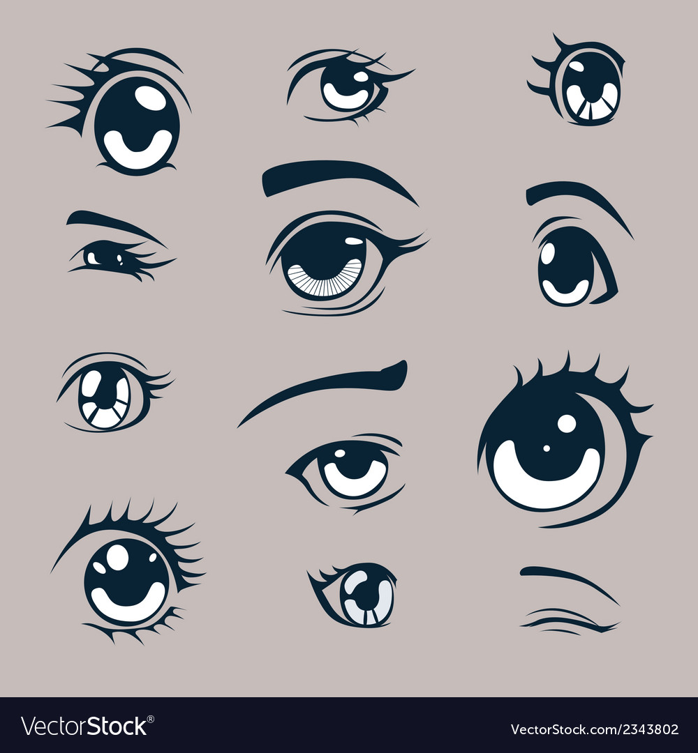 Manga style eyes vector | Price: 1 Credit (USD $1)