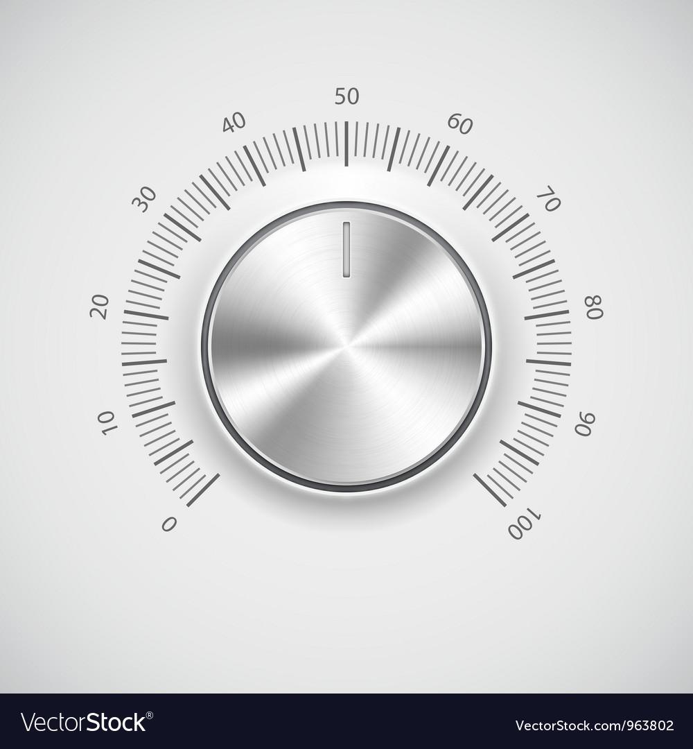 Modern volume knob button vector | Price: 1 Credit (USD $1)