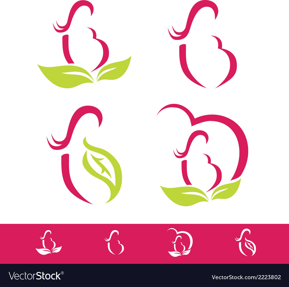 Natural pregnancy design collection vector | Price: 1 Credit (USD $1)