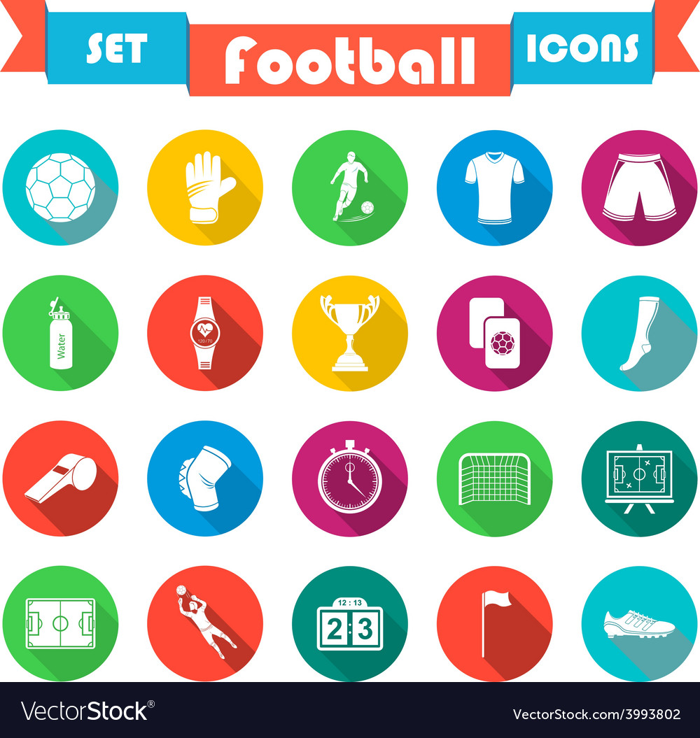 Set of icons in flat style vector | Price: 1 Credit (USD $1)