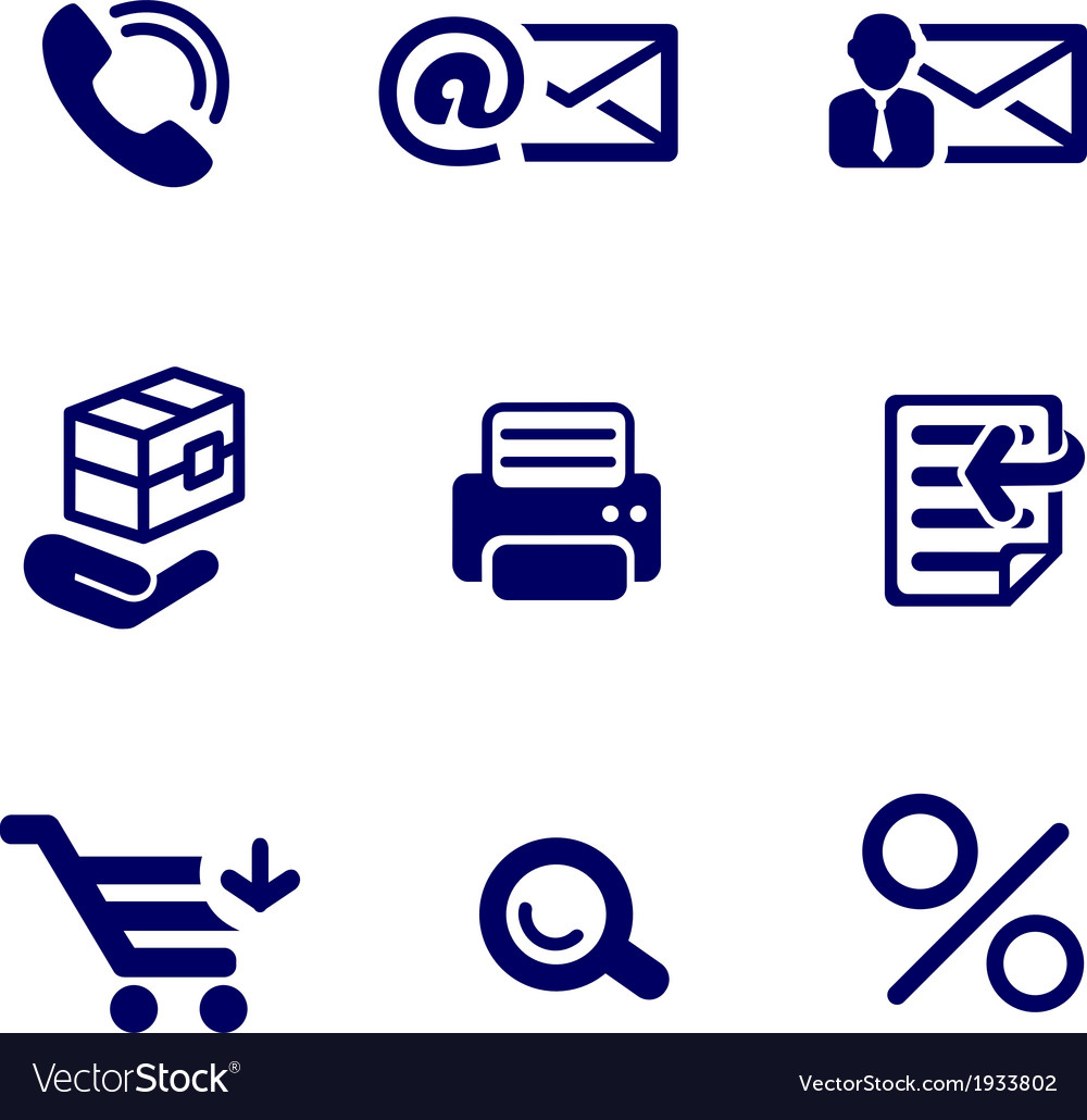 Shop and office icons set vector | Price: 1 Credit (USD $1)