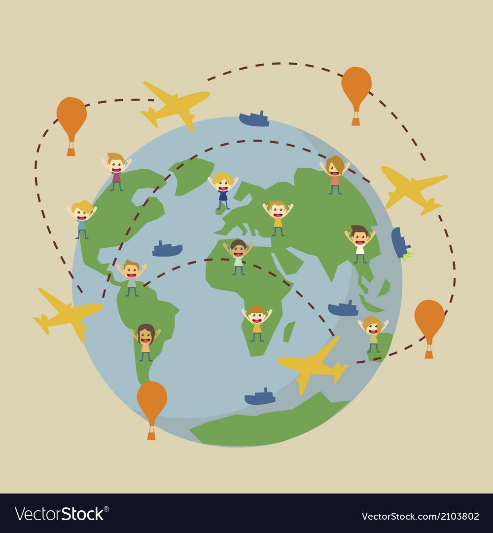 World travel vector   Price: 1 Credit (USD $1)
