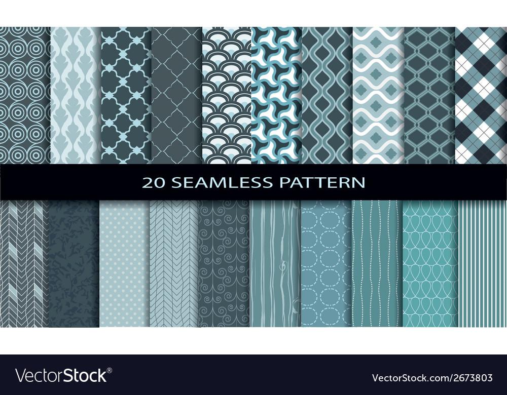 20 seamless pattern set 1 vector | Price: 1 Credit (USD $1)