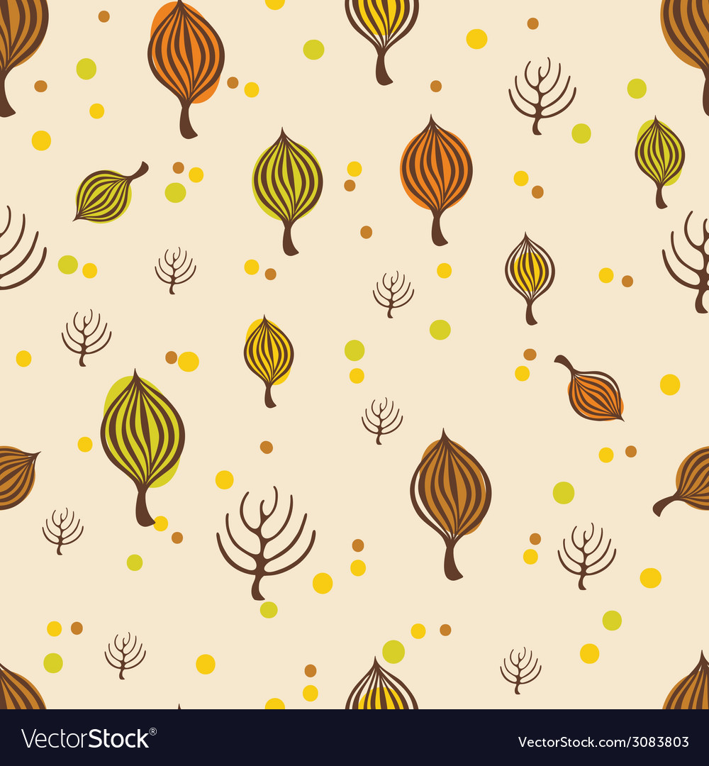 Autumn trees pattern vector | Price: 1 Credit (USD $1)