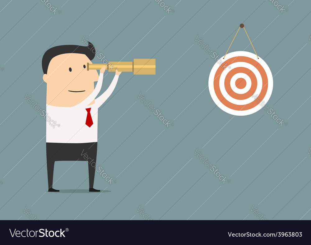 Businessman setting his sights on the target vector | Price: 1 Credit (USD $1)