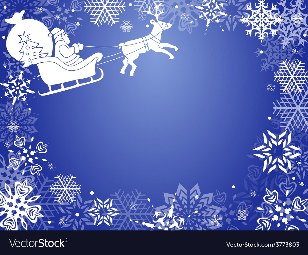 Christmas greeting card with santa vector | Price: 1 Credit (USD $1)