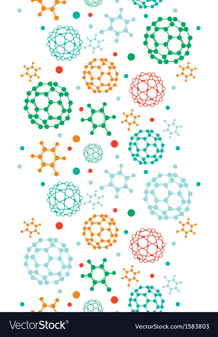 Colorful molecules vertical seamless pattern vector | Price: 1 Credit (USD $1)