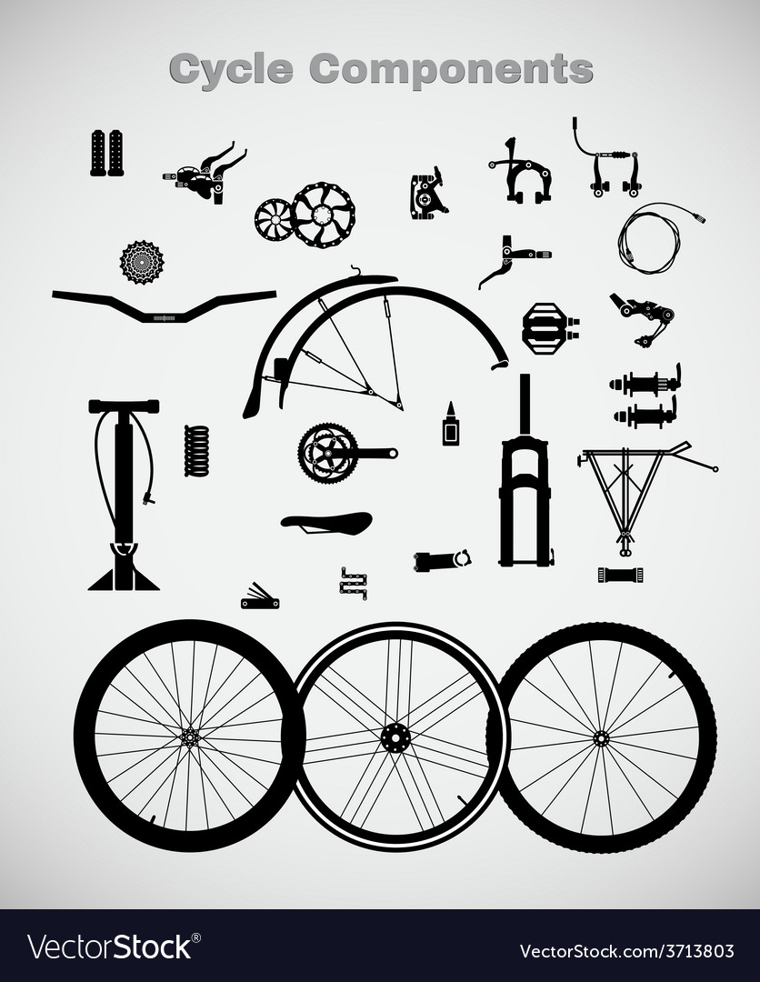 Cycle components vector | Price: 1 Credit (USD $1)
