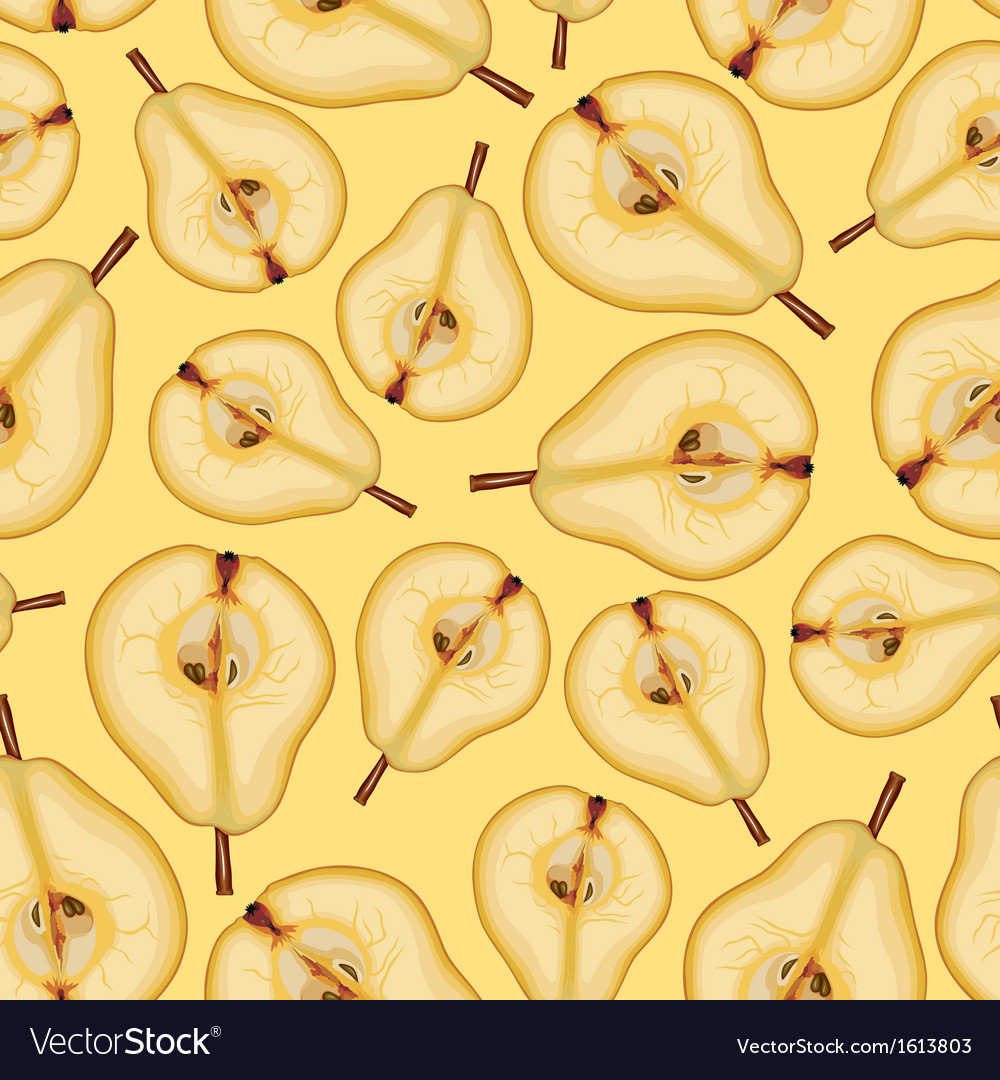 Pear half pattern vector | Price: 1 Credit (USD $1)