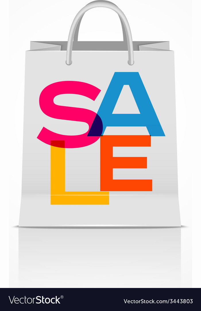 Sale shopping bag abstract vector | Price: 1 Credit (USD $1)