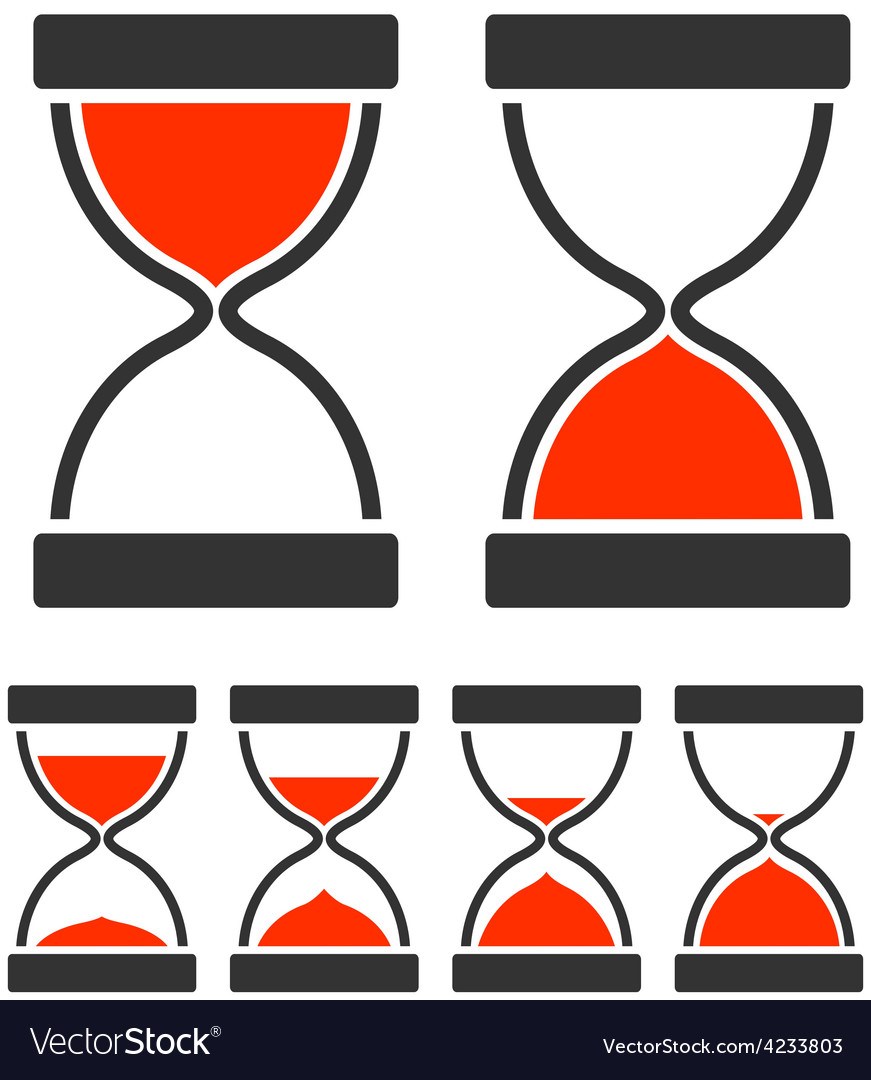 Sand glass timer vector | Price: 1 Credit (USD $1)