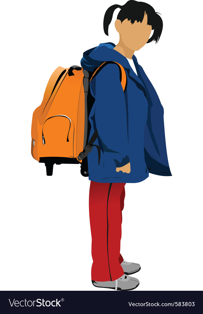 School kid vector   Price: 1 Credit (USD $1)