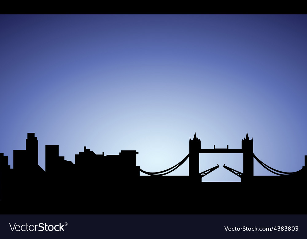 Silhouette of london city england vector | Price: 1 Credit (USD $1)