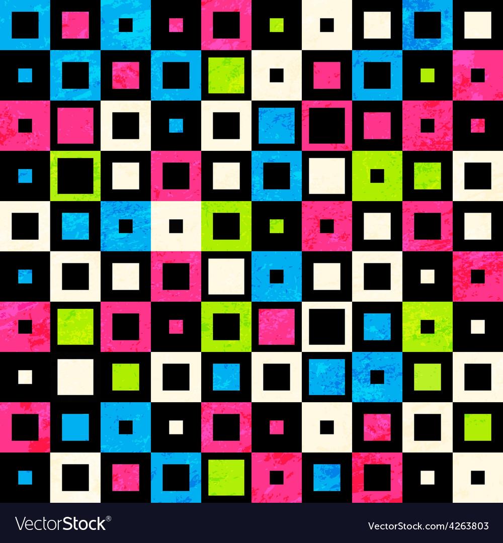 Square neon seamless pattern vector   Price: 1 Credit (USD $1)