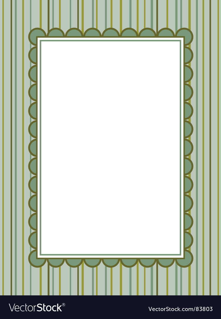 Striped background with frame vector | Price: 1 Credit (USD $1)