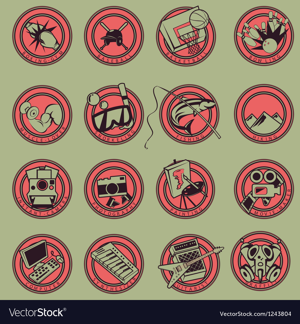 15 logo cartoon hobbies vector | Price: 1 Credit (USD $1)
