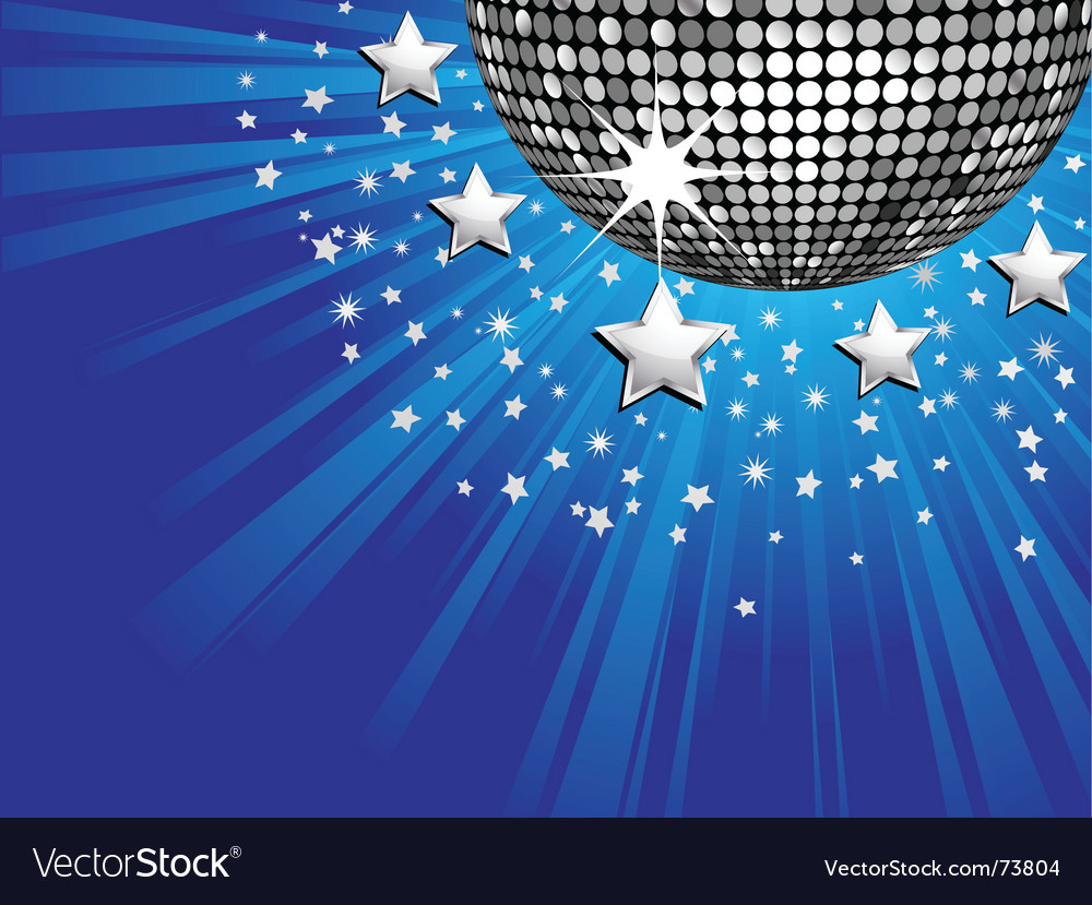 Disco ball starburst vector | Price: 1 Credit (USD $1)