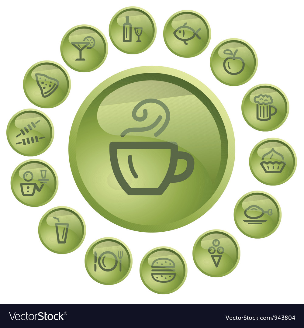 Food and drink buttons vector   Price: 1 Credit (USD $1)