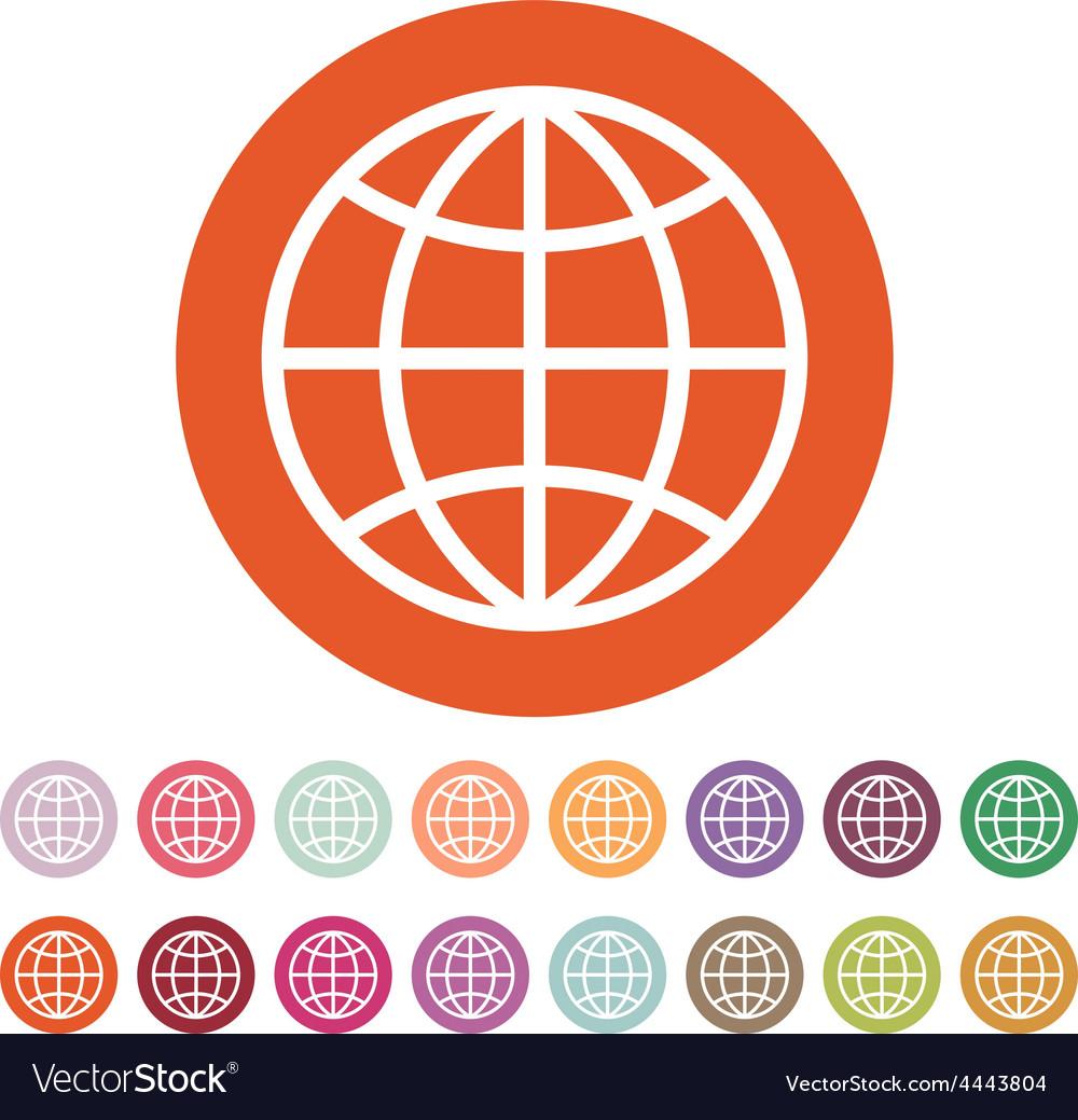 The globe icon globe symbol vector   Price: 1 Credit (USD $1)