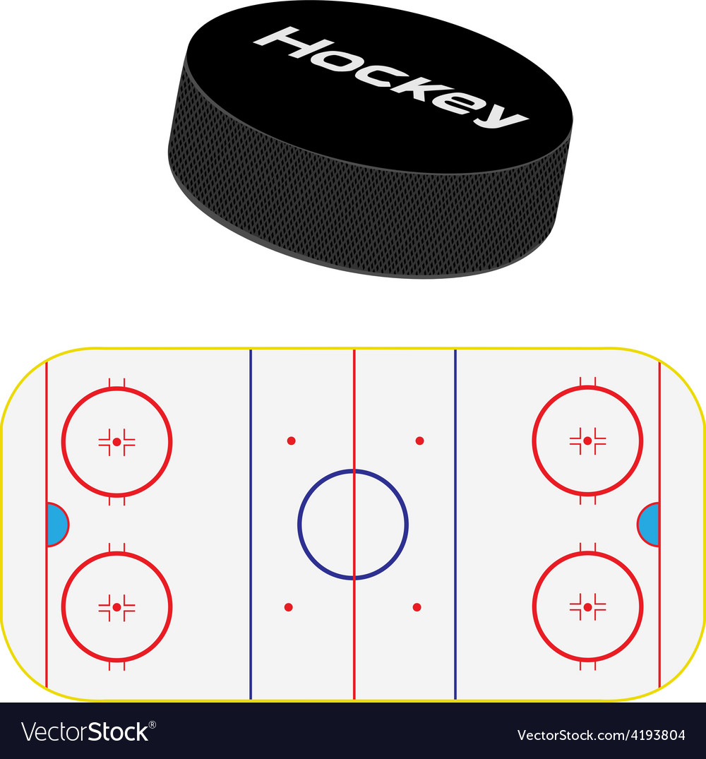 Hockey field and puck vector | Price: 1 Credit (USD $1)