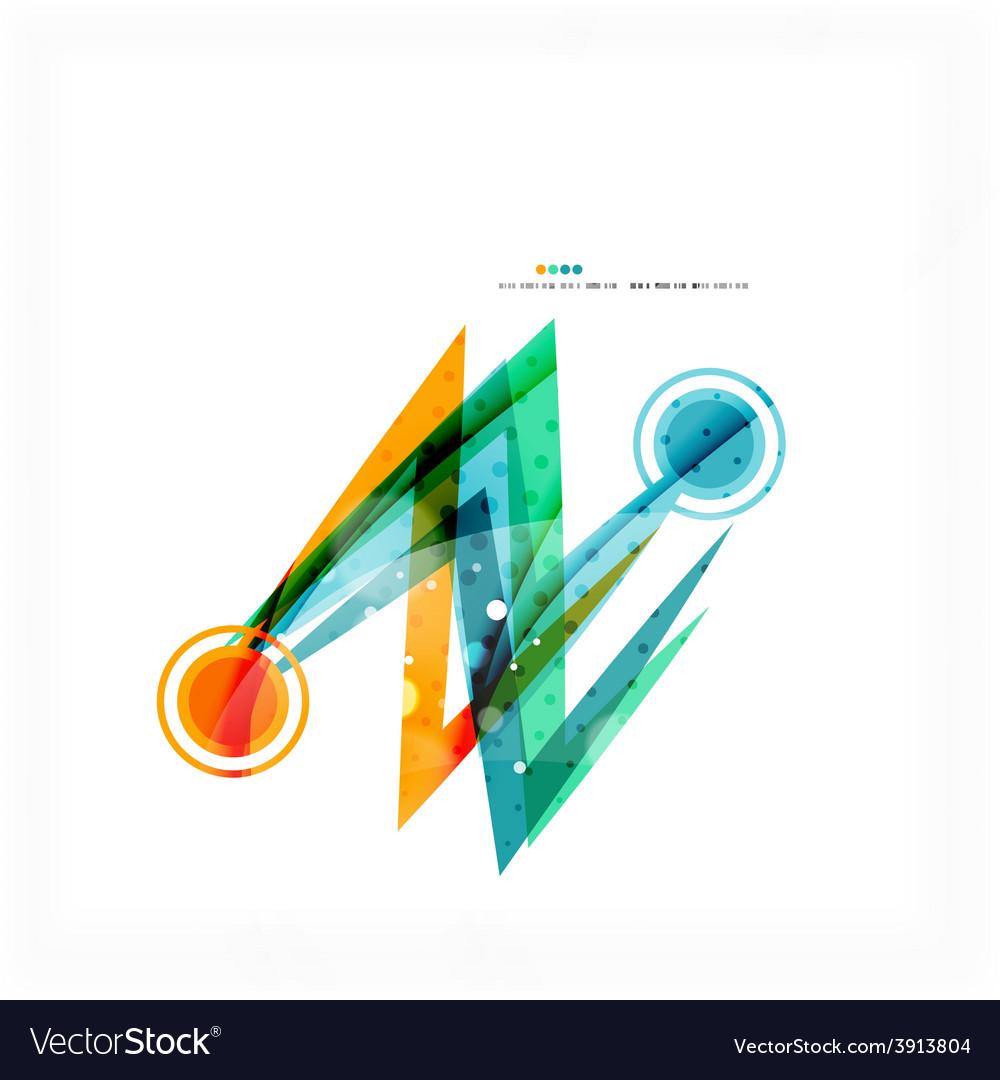 Modern blue and orange color shape composition vector | Price: 1 Credit (USD $1)