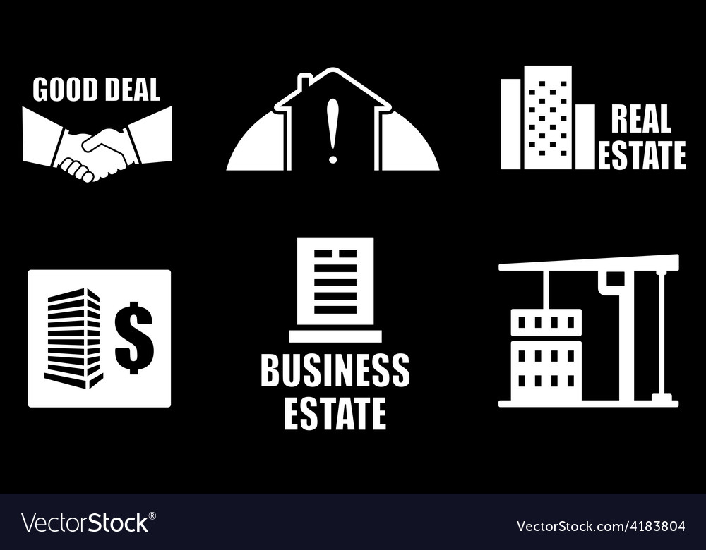 Real estate industry icons set vector | Price: 1 Credit (USD $1)