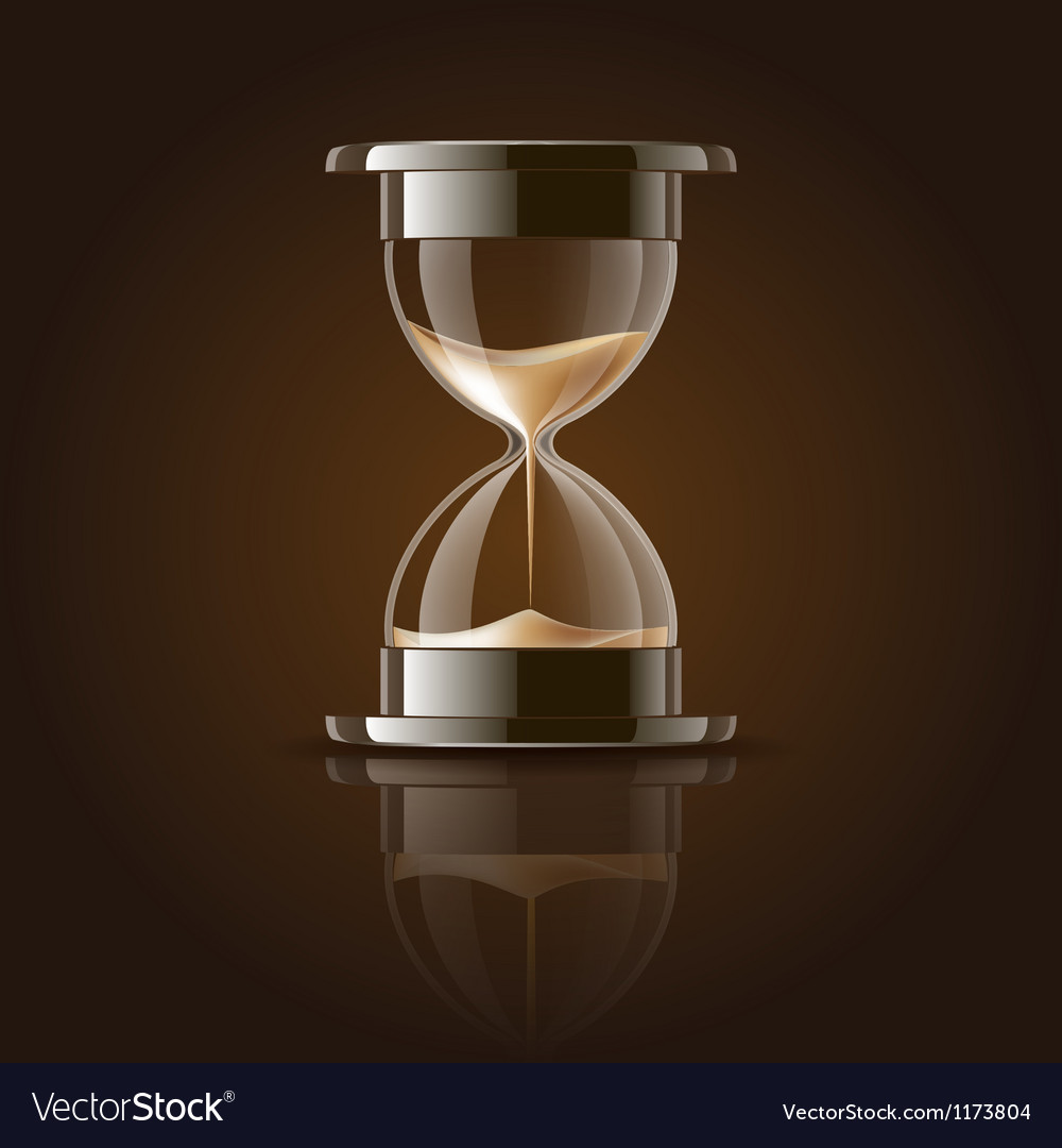 Sand falling in the hourglass vector | Price: 1 Credit (USD $1)